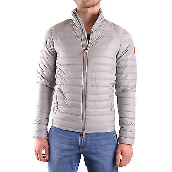 Save the duck men's MCBI269017O grey polyester Quilted Jacket
