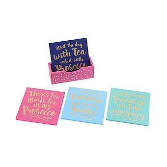 CGB Giftware Oh So Pretty Wooden Coasters (Set Of 4)