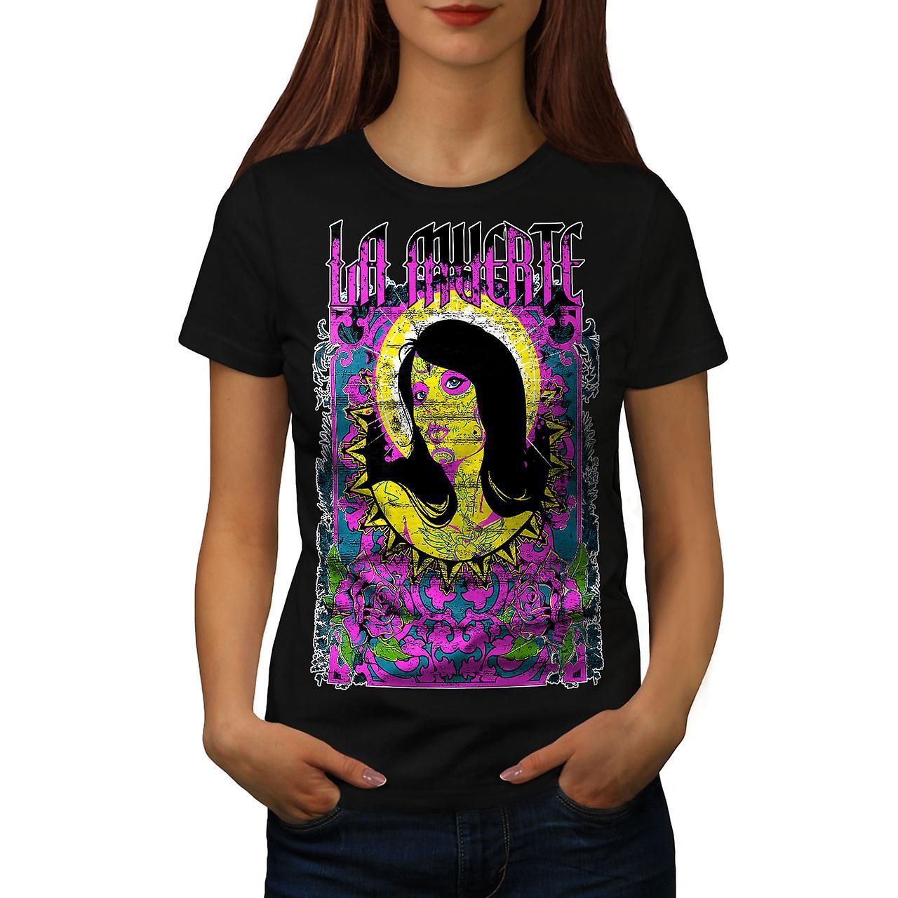La Muerte Holy Zombie Women Black T-shirt | Wellcoda