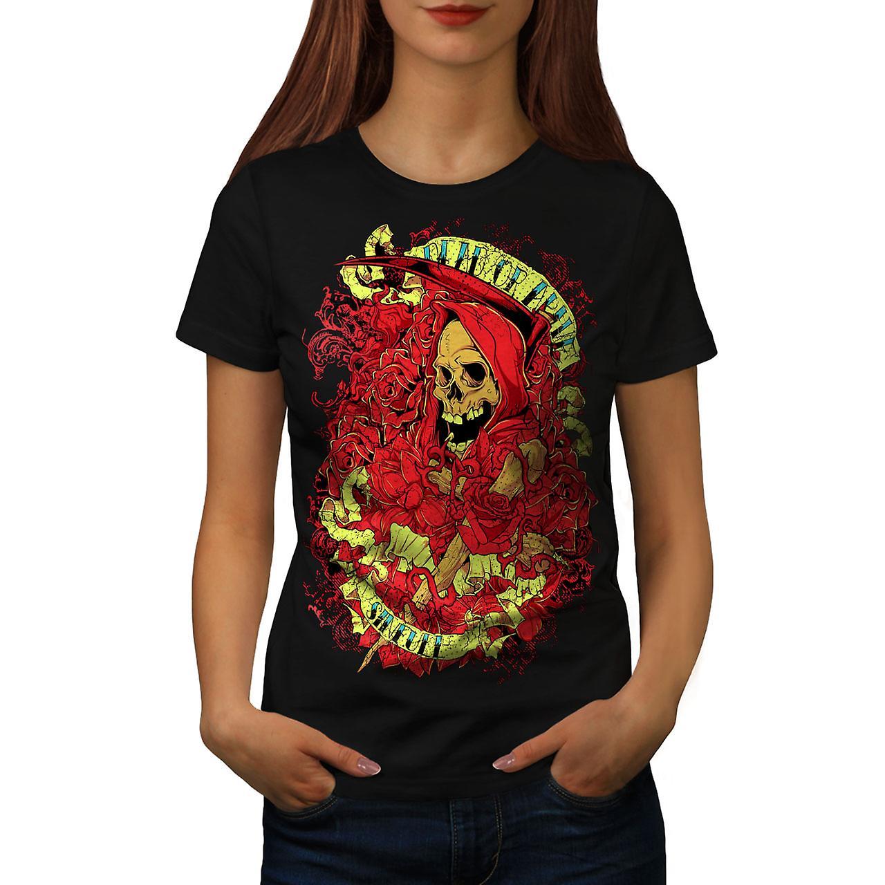Dead Alive Sins Skull Women Black T-shirt | Wellcoda