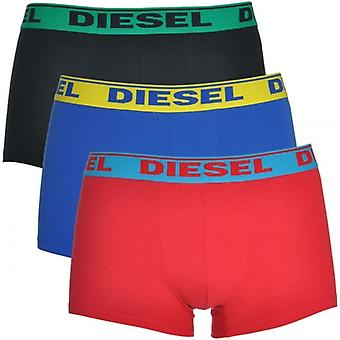 DIESEL Fresh And Bright UMBX-Shawn 3-Pack Boxer Red / Blue / Black, Large