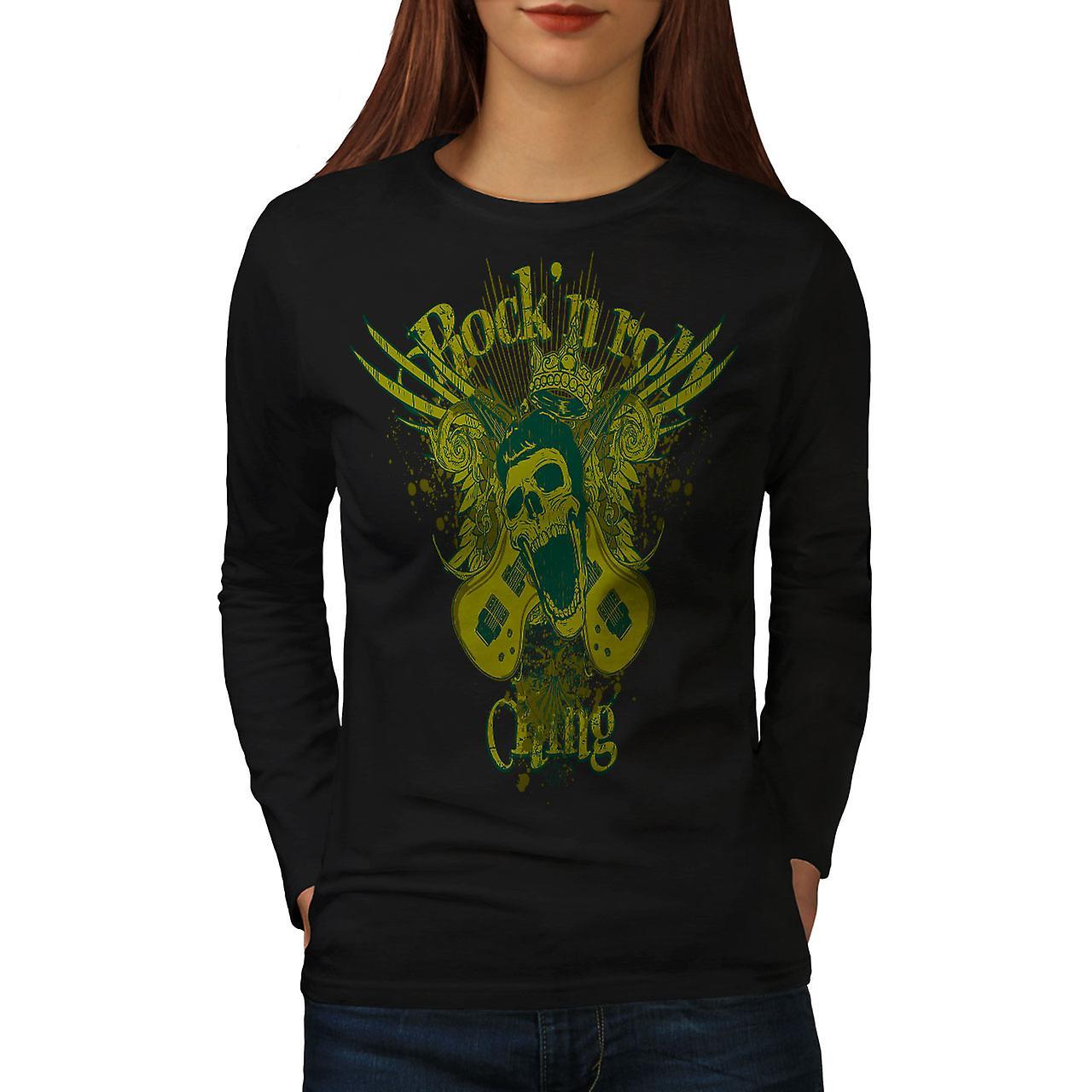 Rock N Roll Gang Music Women Black Long Sleeve T-shirt | Wellcoda