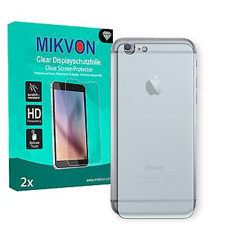 Apple iPhone 6 reverse Screen Protector - Mikvon Clear (Retail Package with accessories) (intentionally smaller than the display due to its curved surface)