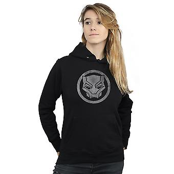 Marvel Women's Black Panther Distressed Icon Hoodie