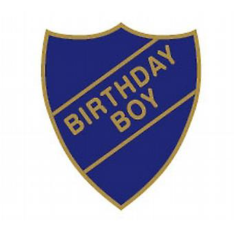 Birthday Boy Enamel Shield Badge - Old School Style