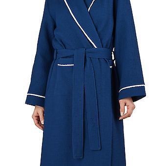Slenderella HC1301 Frauen Waffel Marine Morgenmantel Loungewear Bademantel Morgenmantel Bademantel