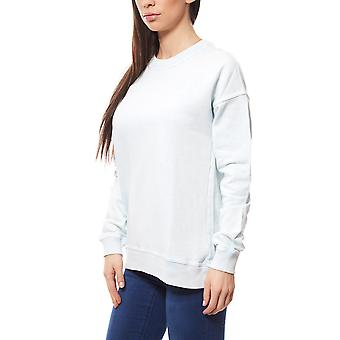 Noisy may Alex sweat shirt ladies sweater blue in the simple style