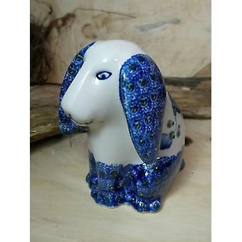 Dog sitting, 11 x 11 x 7,5 cm, 9 - traditional polish pottery - BSN 8008
