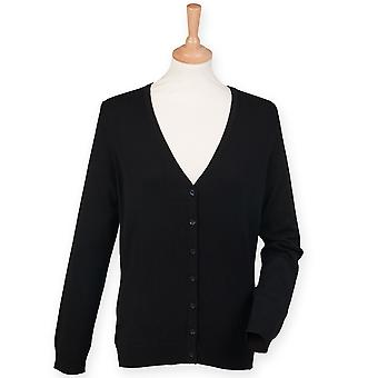 Henbury Ladies V-Neck Button Up Cardigan