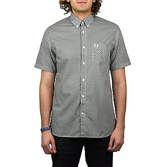 Fred Perry Three Colour Short-Sleeved Gingham Shirt (Nettle)