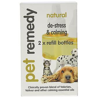 Pet Remedy Natural De-Stress Refill for Cat Dog Pet  40 ml, Pack of 2