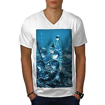 Drop Splash Photo Men WhiteV-Neck T-shirt   Wellcoda