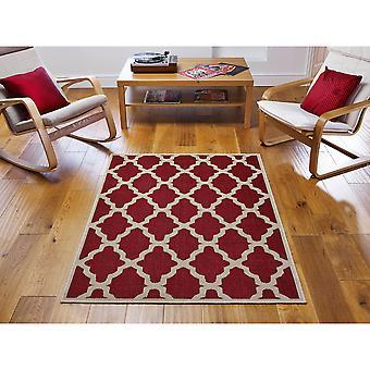 Moda Flatweave spaljé röd rektangel mattor Plain/nästan slätt mattor