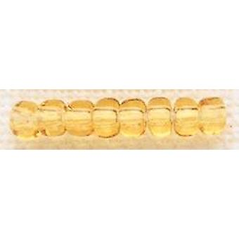 Mill Hill Glass Beads Size 6/0 4mm 5.2g-Golden Amber