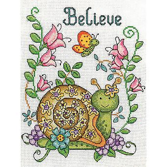 Believe (Snail) Counted Cross Stitch Kit-8