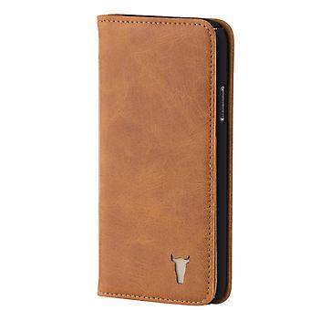 Iphone X / Iphone 10 Usa Tan Leather Case, With Stand Function