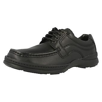 クラークスの靴 'ライン 3 月' メンズ ブラック レザー