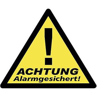 Warning label Warning Alarm Secured Languages German 3-piece set (W x H) 85 mm x 70 mm 40201