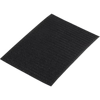 Hook-and-loop tape stick-on Loop pad (L x W) 500 mm x 100 mm Black Basetech 98001c374 1 pc(s)