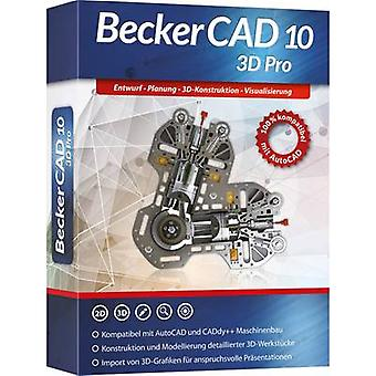 Markt & Technik Becker CAD 10 3D PRO Full version, 1 license Windows CAD