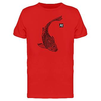 Koi Fish Hand Drawn Tee Men's -Image by Shutterstock