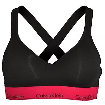 Calvin Klein Women Calvin Klein Women Modern Cotton Bralette Lift, Black With Empower, Small