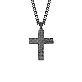s.Oliver jewel mens chain carbon stainless steel 2022635 cross