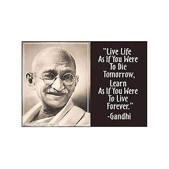 Ганди '' жить как будто..'' Холодильник магнит