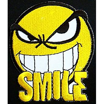 Smiley Evil Smile Iron-On / Sew-On Cloth Patch