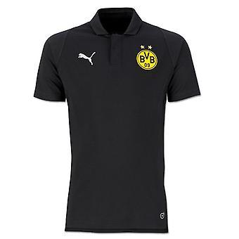 2018-2019 Borussia Dortmund Puma Casuals pikétröja (svart)