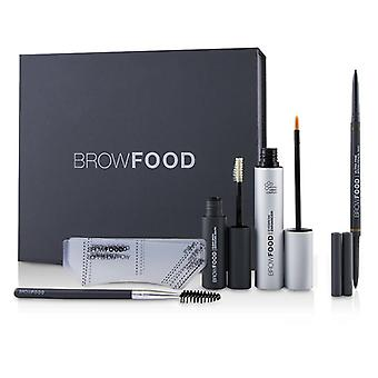 Lashfood BrowFood Brow Transformation System - # Brunette (Light/Medium) - 5pcs