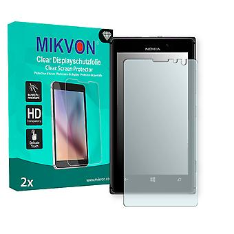 Nokia Lumia 925 Screen Protector - Mikvon Clear (Retail Package with accessories) (intentionally smaller than the display due to its curved surface)
