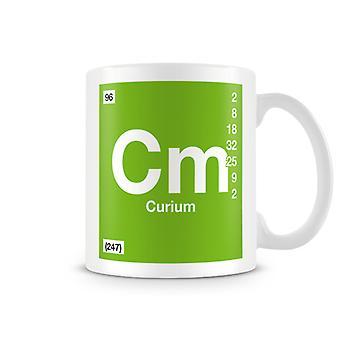 Wetenschappelijke bedrukte Mok met Element symbool 095 Cm - Curium