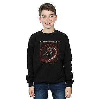 DC Comics Boys Aquaman Black Manta Circle Sweatshirt