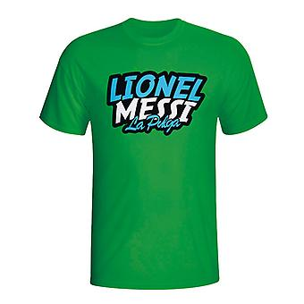 Lionel Messi Comic Book T-shirt (green) - Kids