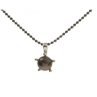 Cavendish French Sterling Silver and Black Pearl Pendant without Chain