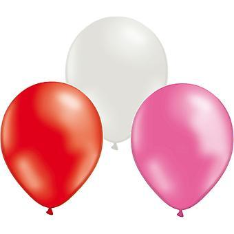 Ilmapalloja sekoita 24-pack-punainen/valkoinen/pinkki