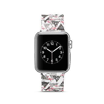 Siliconen klockrem voor Apple Watch 4 40 mm, 3/2/1-38 mm-Flamingo