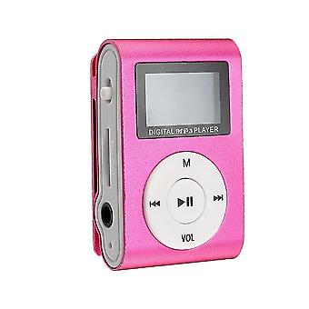 Compact MP3 Player with microphone, Pink
