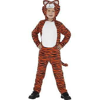 Tiger Costume, Orange & Black, with Hooded Jumpsuit & Tail