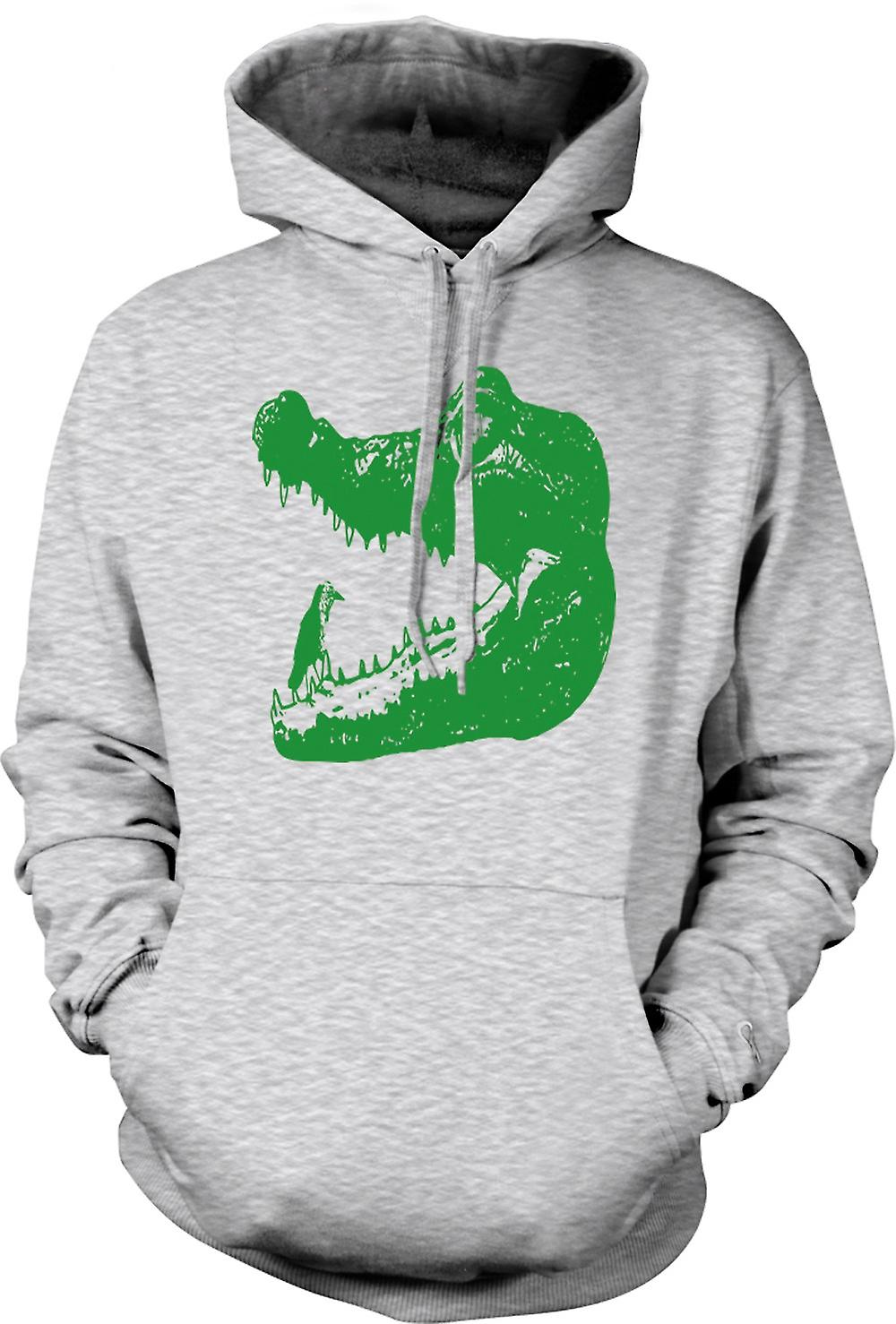Mens Hoodie - Cool Aligator Crocodile - Cool Graphic Design