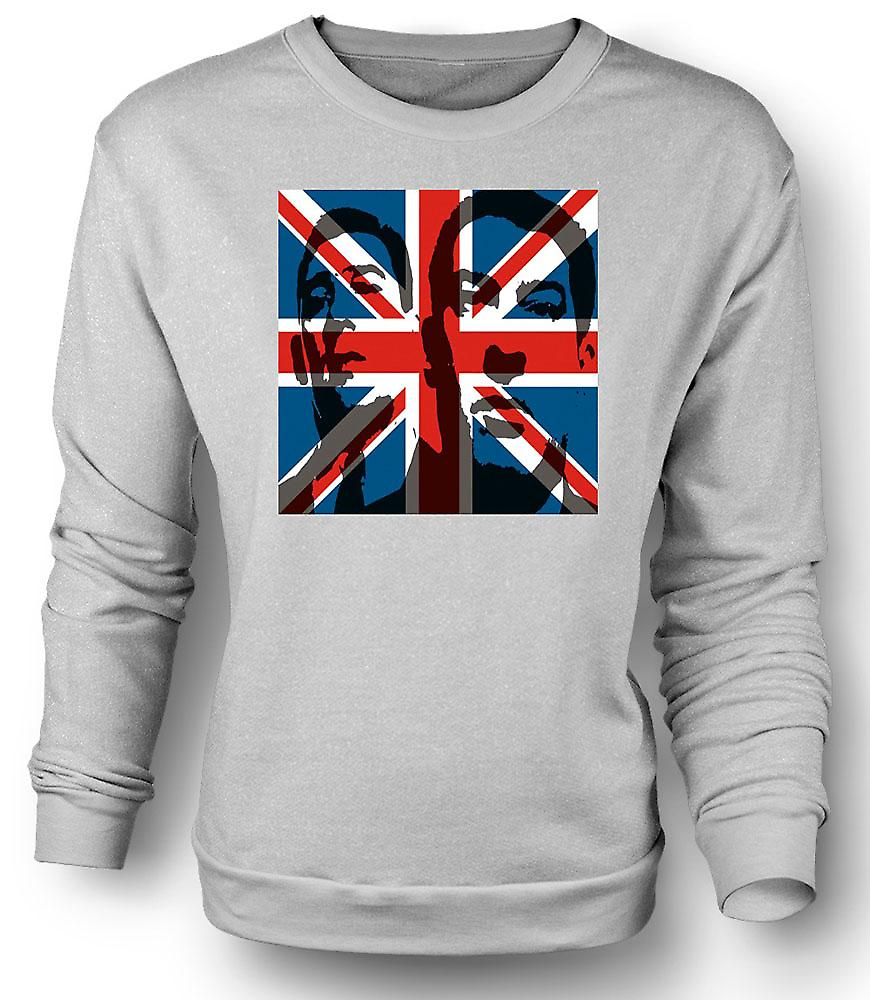 Mens Sweatshirt, die die Krays-Union Jack - Gangster