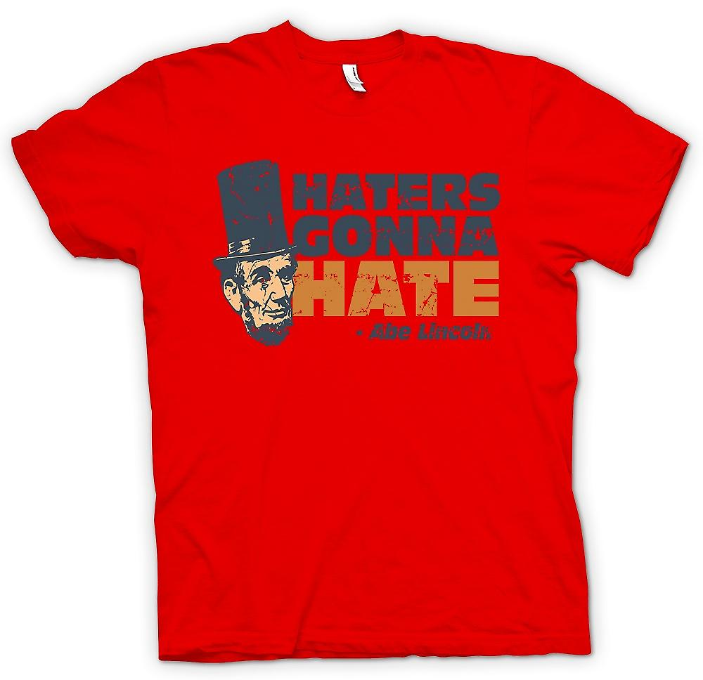 Mens T-shirt - Haters vas a odio - Abe Lincoln