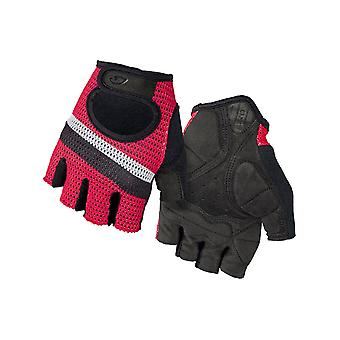 Giro Bright Red Stripe 2019 Siv Fingerless Cycling Gloves