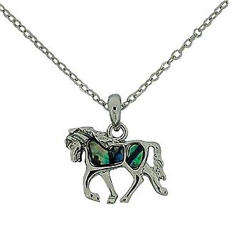 The Olivia Collection Small Green Horse Paua Shell Pendant 16