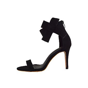 Lovemystyle Black Ribbon Heeled Sandals