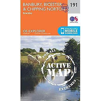 OS Explorer Map Active (191) Banbury, Bicester and Chipping Norton (OS Explorer Active Map)