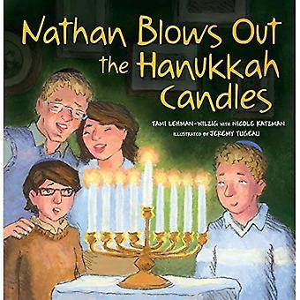 Nathan Blows Out the Hanukkah Candles