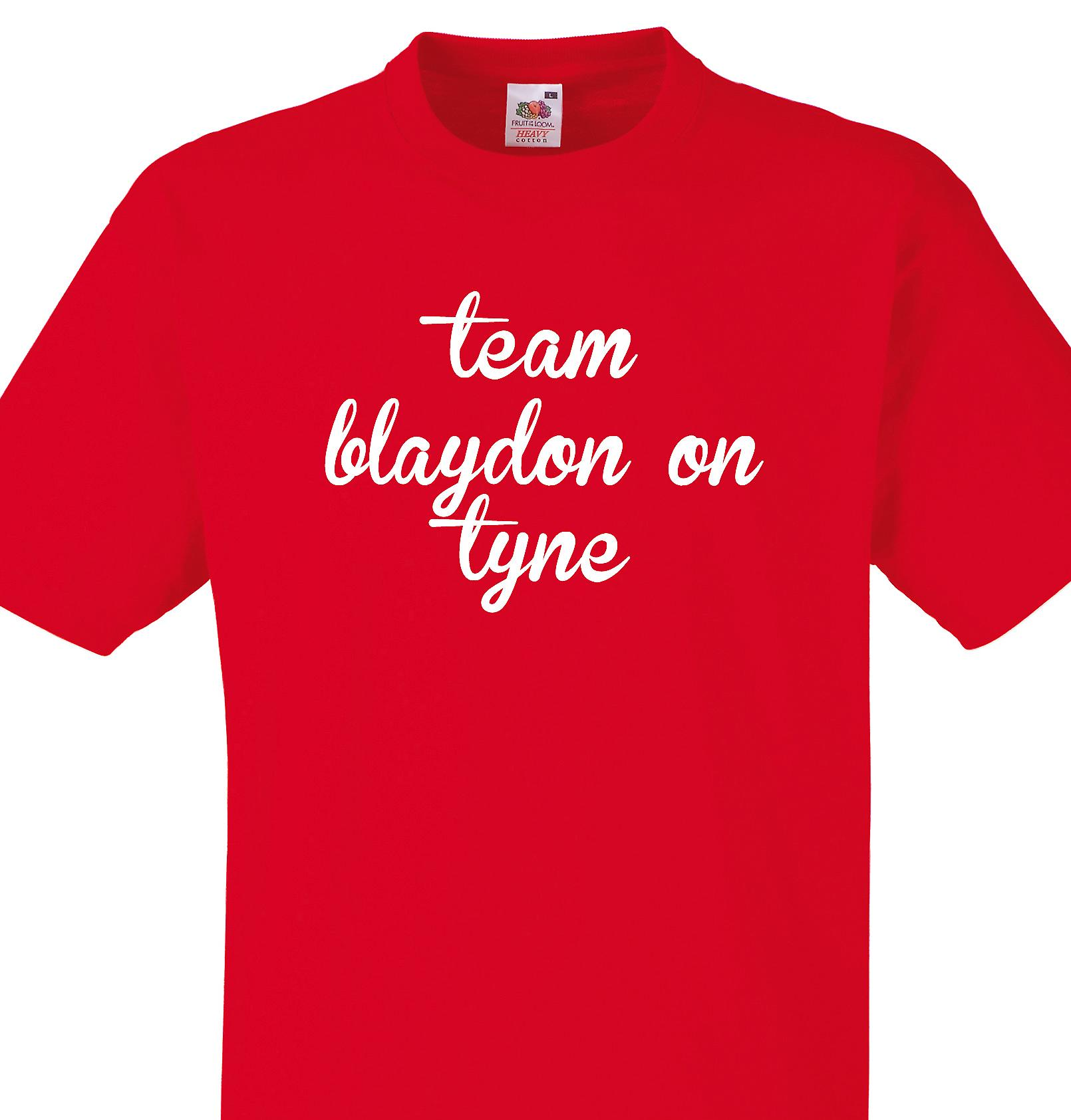 Team Blaydon on tyne Red T shirt