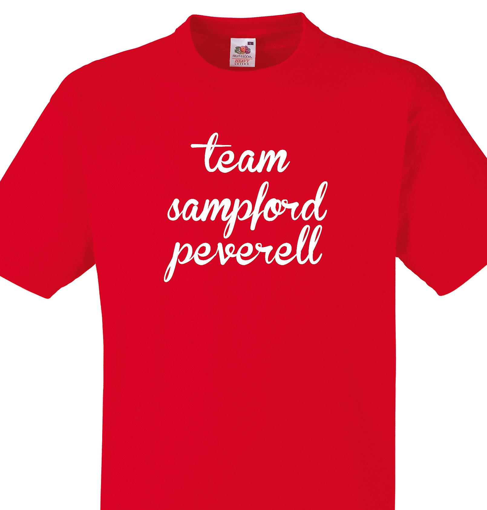 Team Sampford peverell Red T shirt